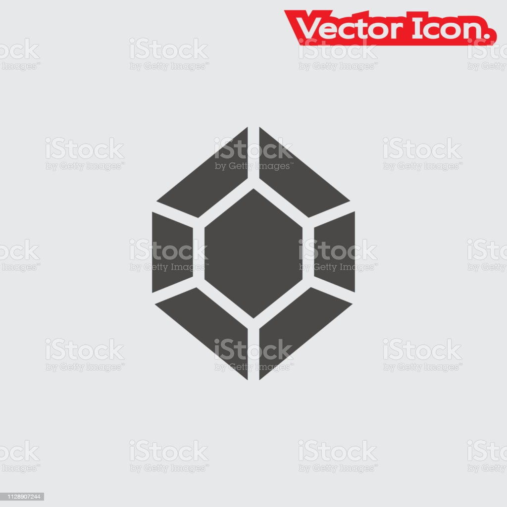 Crystal Icon Isolated Sign Symbol And Flat Style For App Web And Digital  Design Stock Vector Art & More Images of Abstract