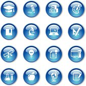 An illustration of education icons set for your web page, presentation, & design products.