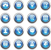 An illustration of mobile apps icons set for your web page, presentation, & design products.