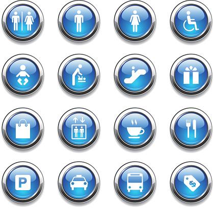 Crystal Icons Set   Public & Shopping Mall