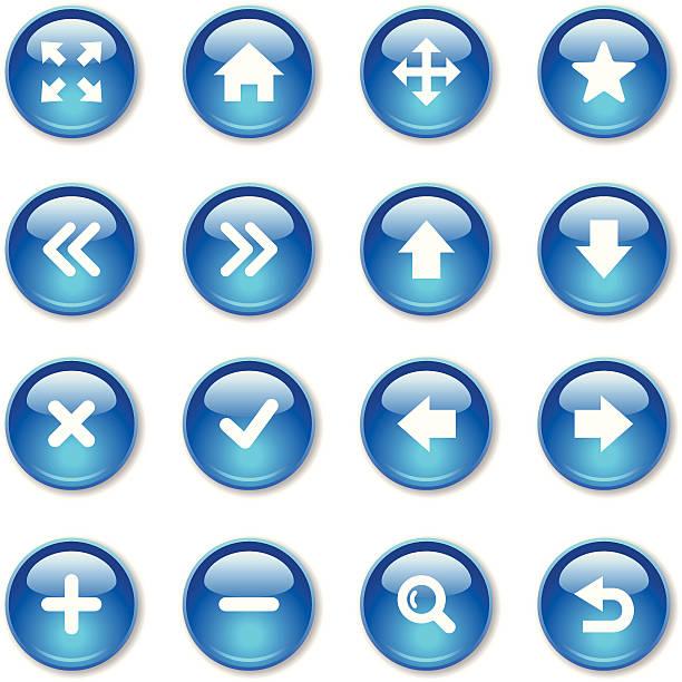 크리스탈잔 아이콘 세트/웹 디자인식 - home icon stock illustrations