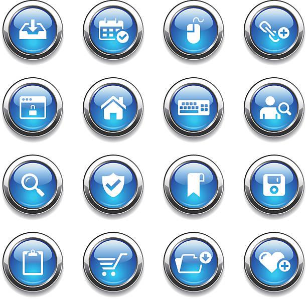 크리스탈잔 아이콘 세트/웹 - home icon stock illustrations