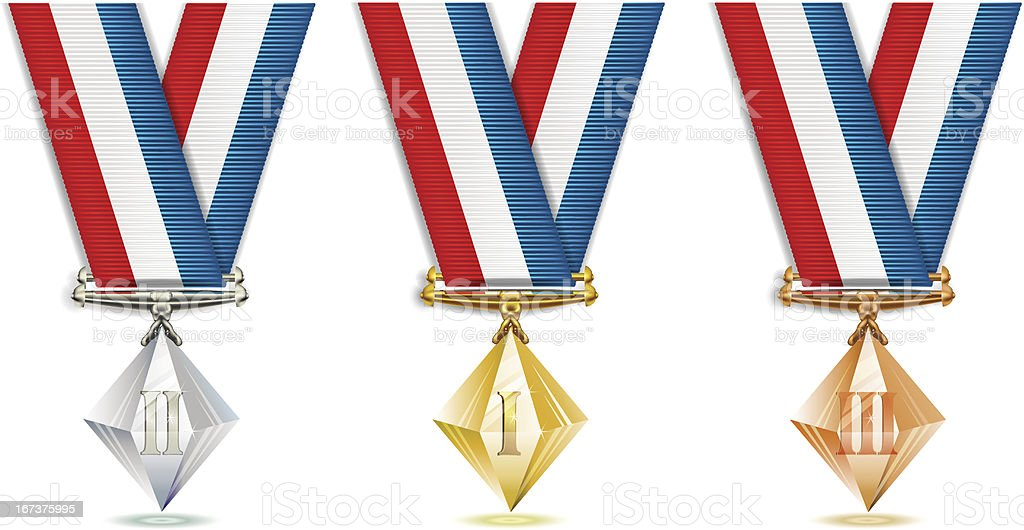 Crystal medals royalty-free crystal medals stock vector art & more images of award