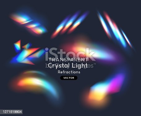 istock Crystal Rainbow Light Effects 1271519904