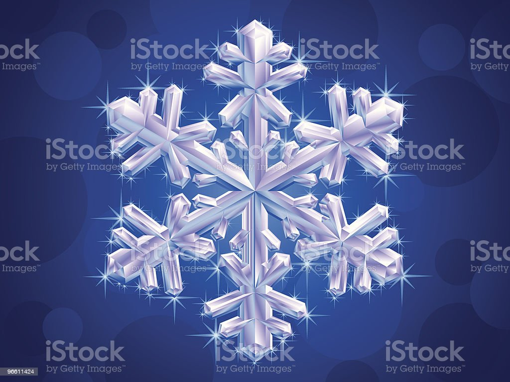 crystal snowflake - Royalty-free Art stock vector