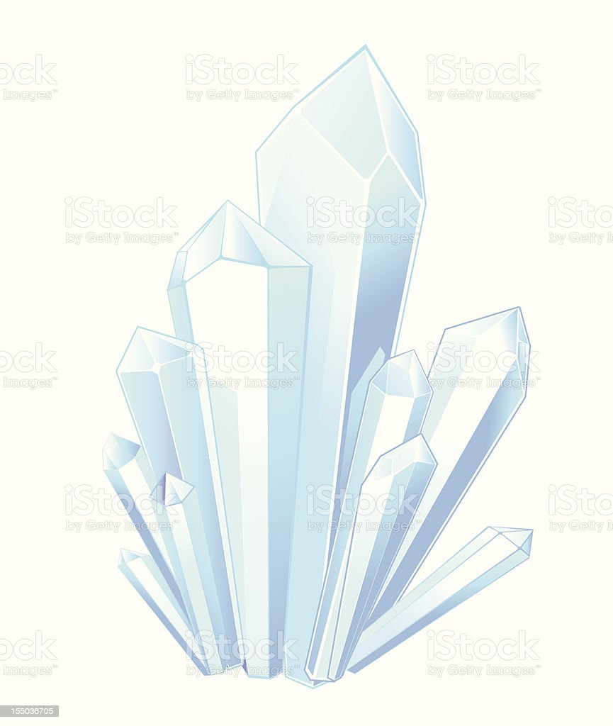 crystal stones royalty-free stock vector art