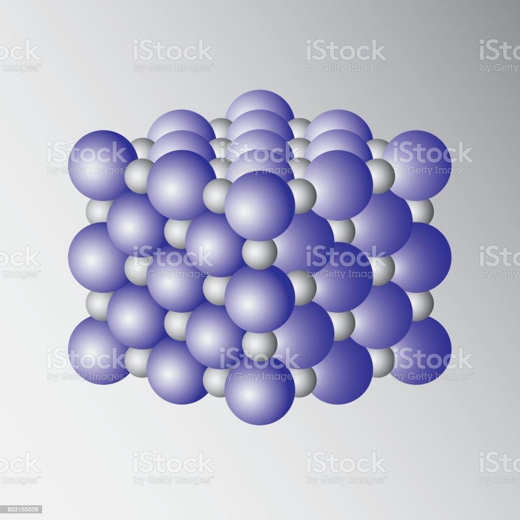 d37589423 Ilustración de Estructura Cristalina Este Es El Modelo De Un Arreglo ...