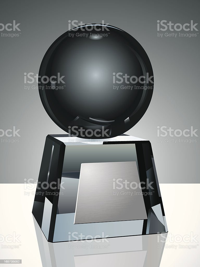 Crystal Trophy with Globe vector art illustration