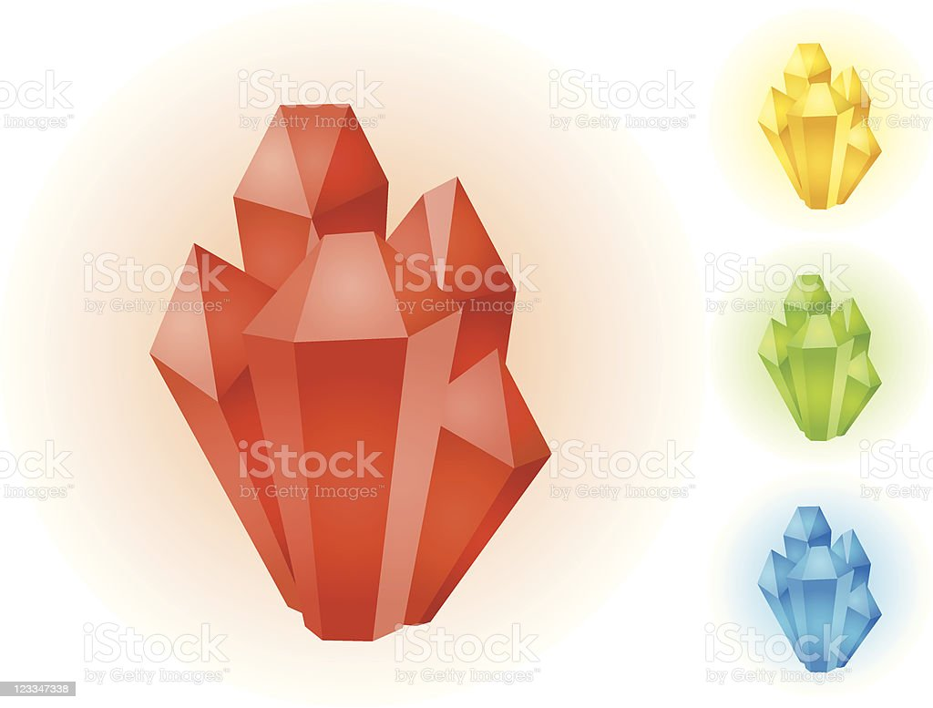Crystal vector art illustration