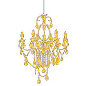 Golden Spardles Chandelier