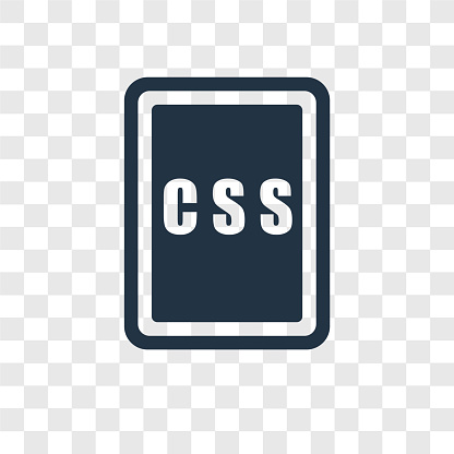 Css Vector Icon Isolated On Transparent Background Css Transparency Logo Design Stock Illustration Download Image Now Istock