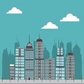 Cty with buildings design