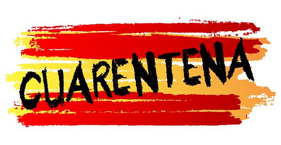 Cuarentena, quarantine in Spanish text.