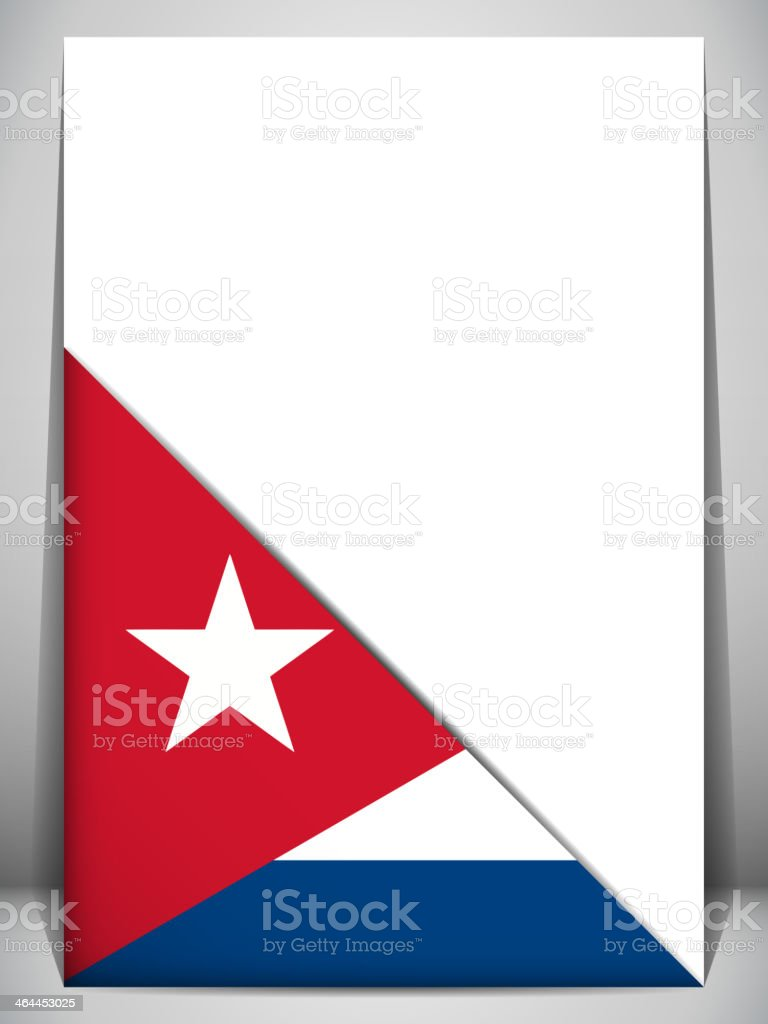 Cuba Country Flag Turning Page royalty-free stock vector art
