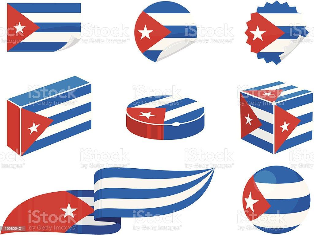 Cuba Design Elements vector art illustration