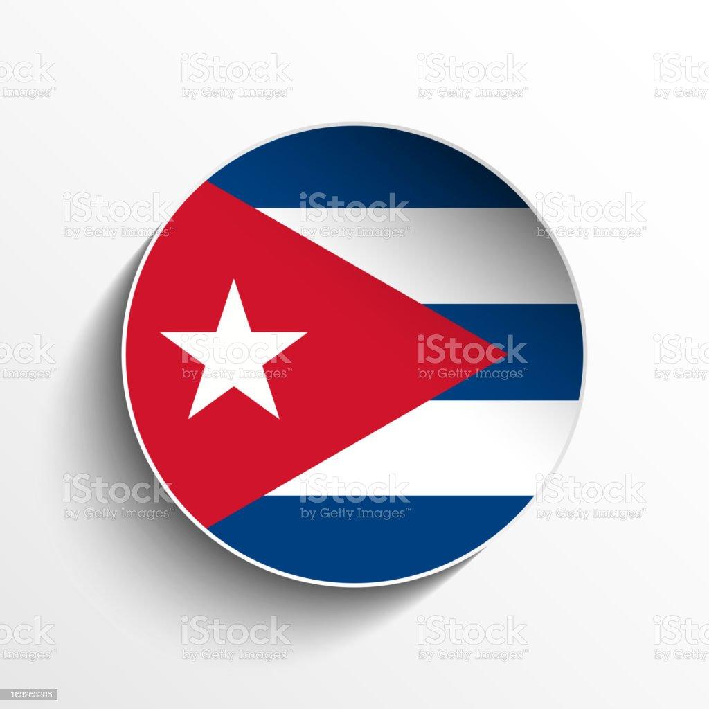 Cuba Flag Sticker Button royalty-free stock vector art