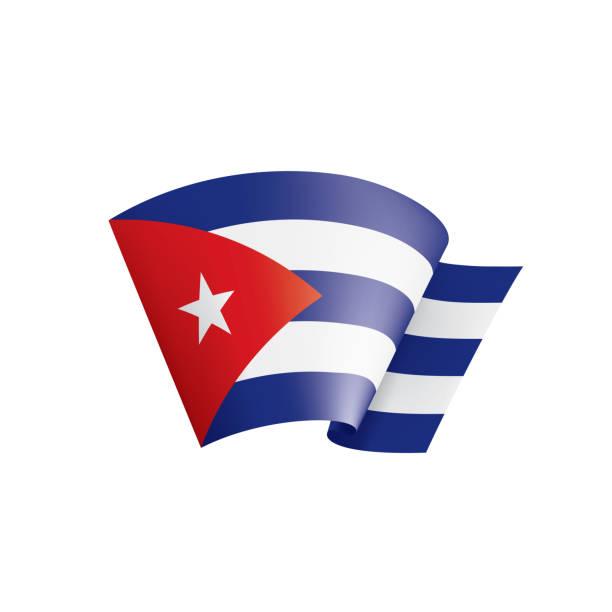 Cuba flag, vector illustration on a white background vector art illustration