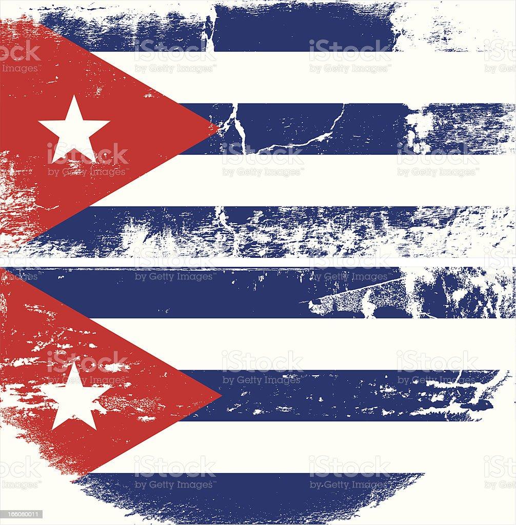 Bandera de Grunge de Cuba - ilustración de arte vectorial