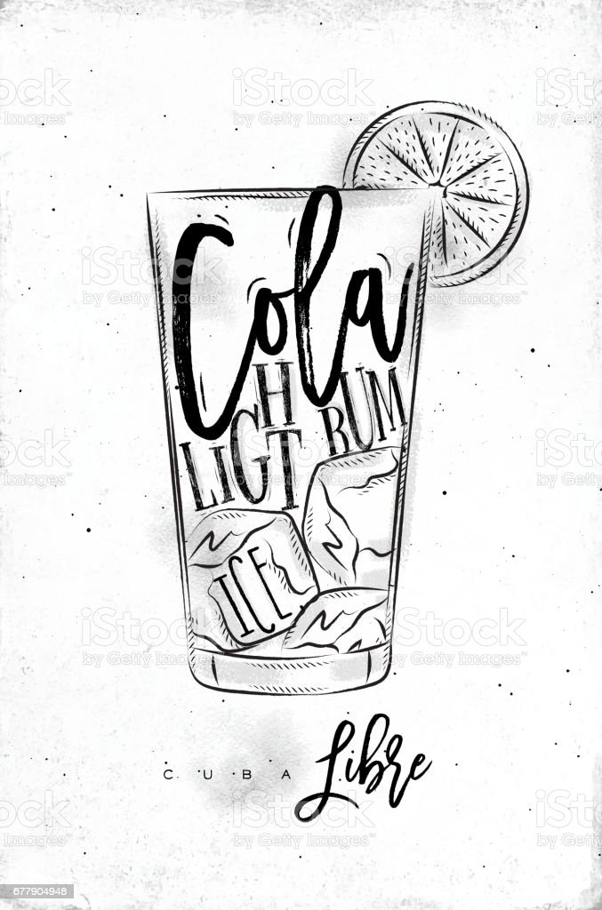 Cuba libre cocktail royalty-free cuba libre cocktail stock vector art & more images of alcohol