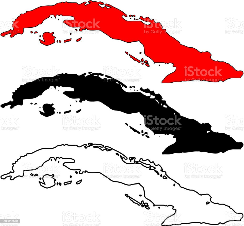 Cuba map vector stock vector art more images of abstract 683316546 caribbean cuba havana map world map gumiabroncs Image collections