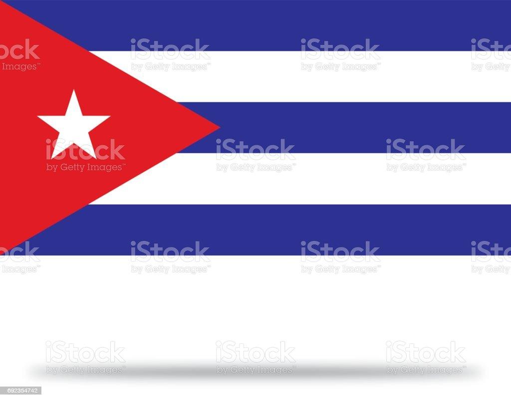 Mapa de Cuba con sombra - ilustración de arte vectorial