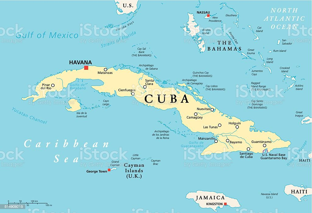 Cuba Political Map Stock Illustration - Download Image Now