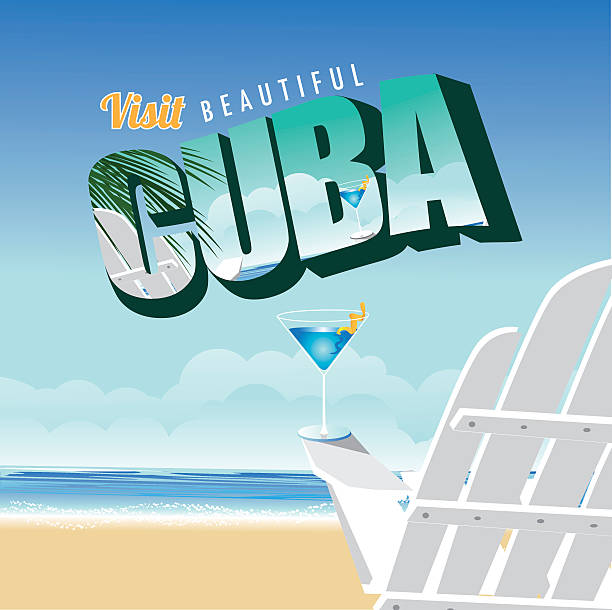 Vintage Beach Background Stock Photo 112981333: Cuba Clip Art, Vector Images & Illustrations