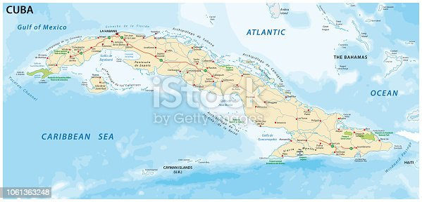 istock cuba road and national park map 1061363248