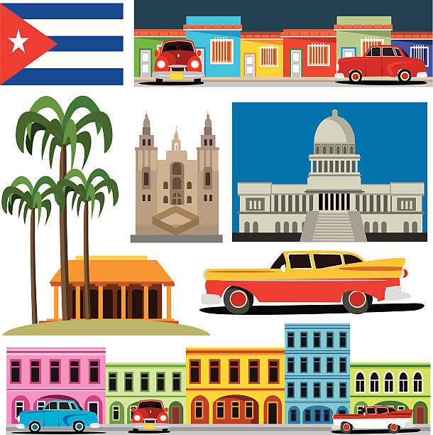 Cuba símbolos - ilustración de arte vectorial