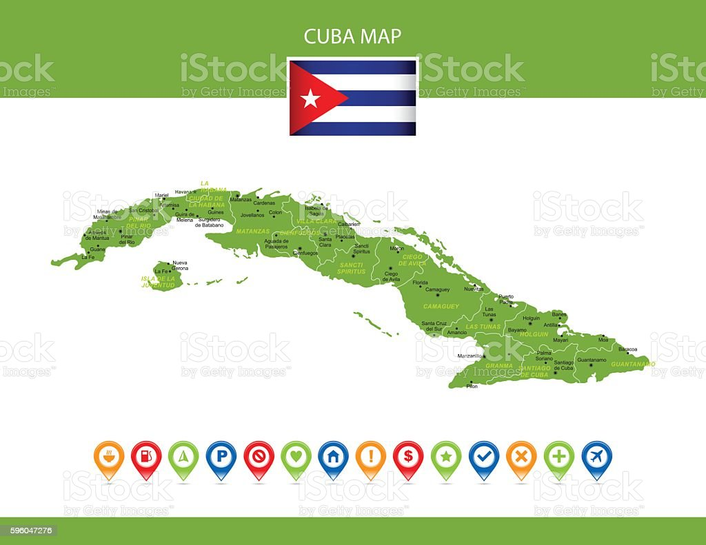 Cuba Vector Map royalty-free cuba vector map stock vector art & more images of arrow symbol