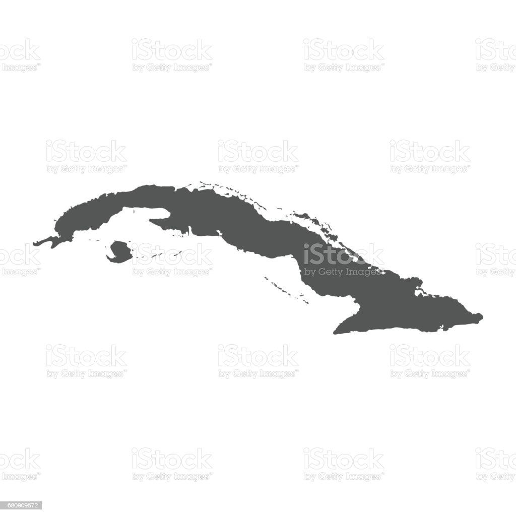 Cuba vector map. royalty-free cuba vector map stock vector art & more images of black color