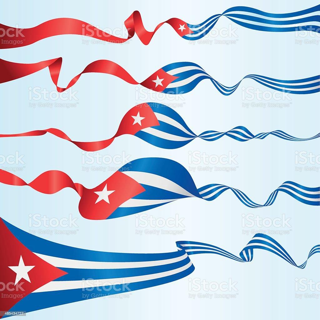 Banners cubano - ilustración de arte vectorial