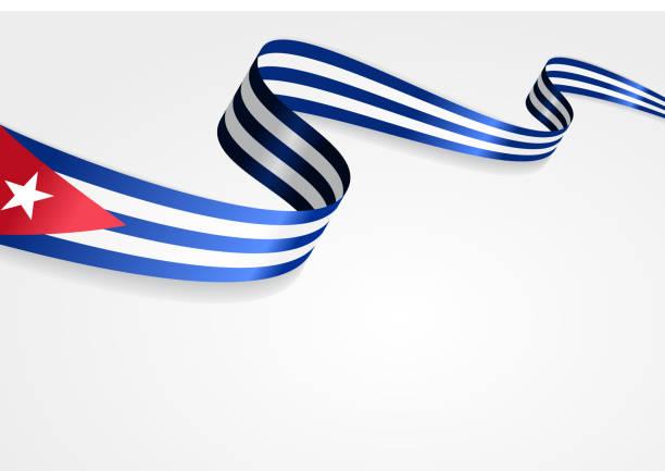 Bandera cubano fondo. Ilustración vectorial - ilustración de arte vectorial