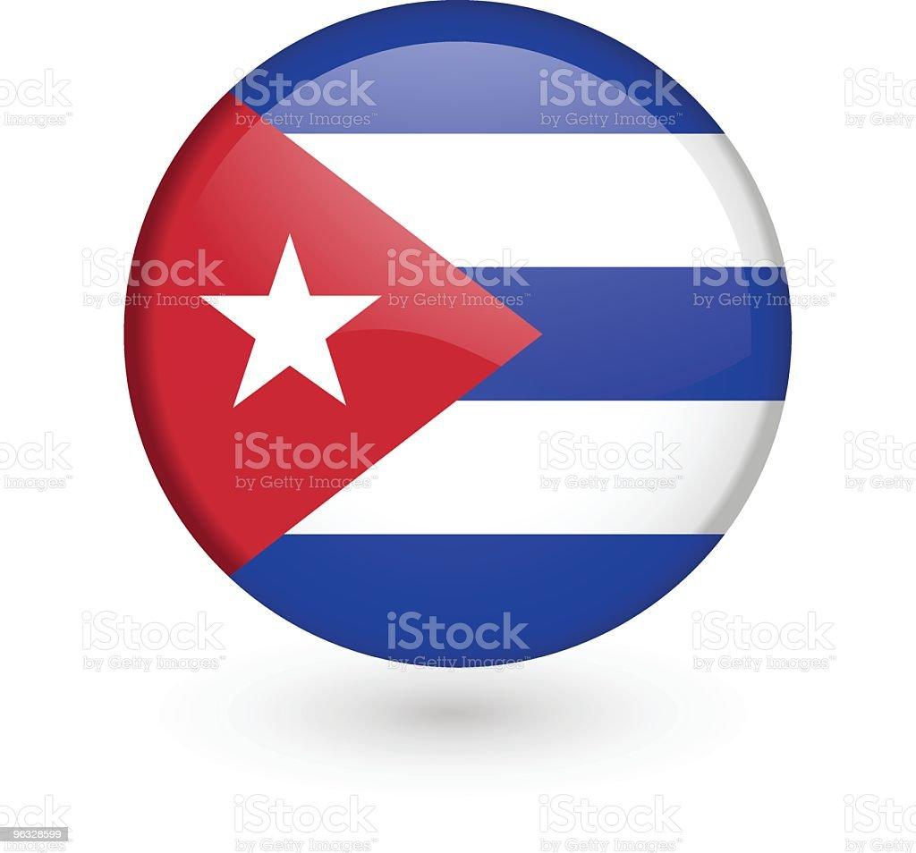 Cuban flag vector button vector art illustration