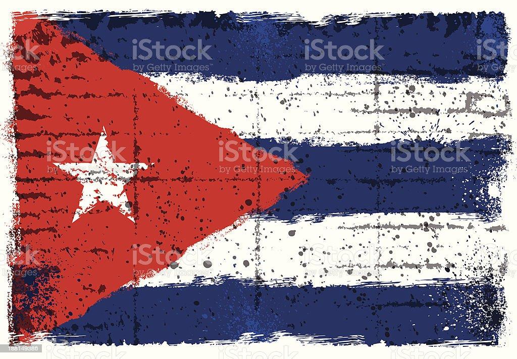 Cuban flag vector art illustration