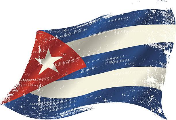 grunge de bandera cubana - ilustración de arte vectorial