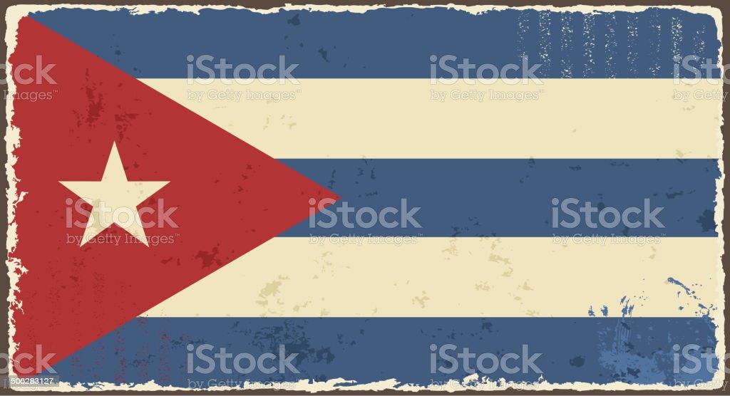 Cuban grunge flag. vector art illustration