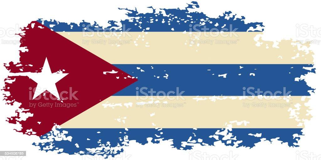 Cuban grunge flag. Vector illustration. vector art illustration