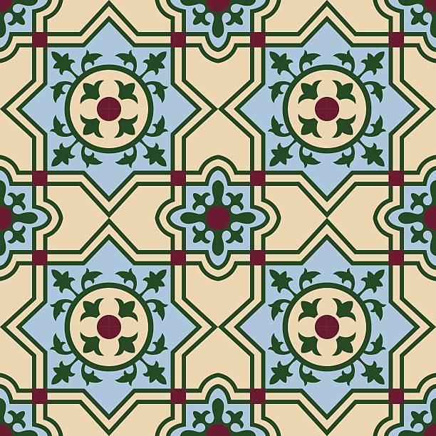 ilustraciones, imágenes clip art, dibujos animados e iconos de stock de cubano español azulejos 4 - patrones de azulejos