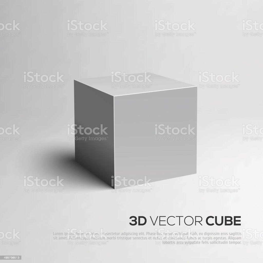 Cubos 3D. ilustração vetorial para seu design. - ilustração de arte em vetor