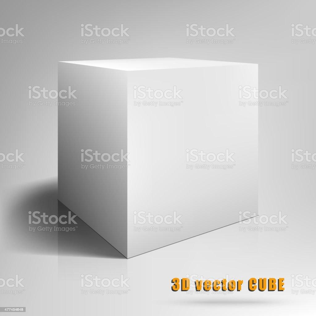 Cube 3D. Vector illustration template for your design vector art illustration