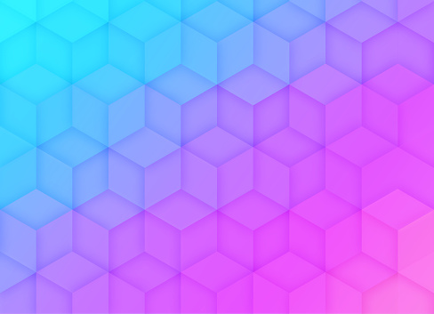 Cube Abstract Gradient Background Pattern
