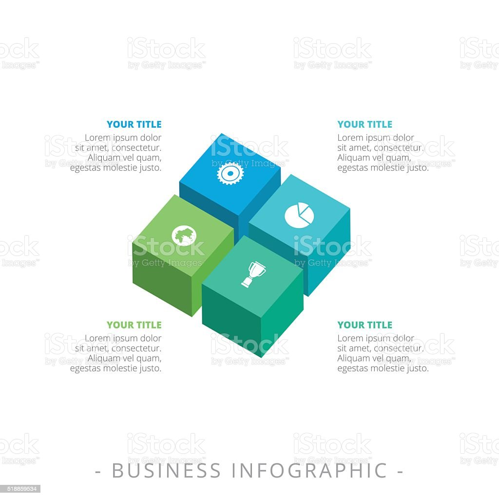 cube chart template stock illustration - download image now
