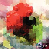 EPS 8 Vector illustration about a modern, abstract square blocks background. Isometric buildings for your contemporary layouts. Insert your own text, your own design! Typography is self-created. No transparencies, no opacityes, no gradients. Easy to edit. RGB color mode. (include AI-CS3, EPS8, JPEG 2800x2800px)
