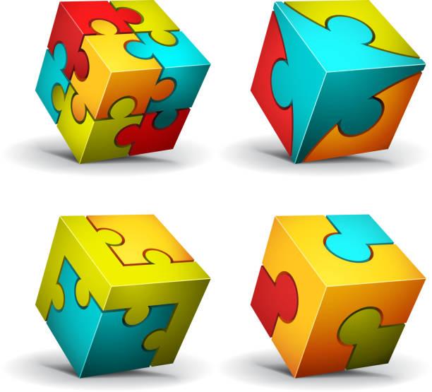 Cube design-Elemente – Vektorgrafik