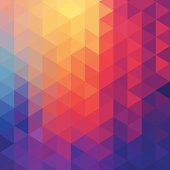 Abstract diamond-pattern background.  The upper left quarter shows a varied selection of orange hues as the colors merge into each other.  Light blue is found on the center left side and continues to the lower corner where it blends into purple.  The purple continues across the bottom quarter and curves around the outer right edge before it mixes with magenta.  The magenta colors the majority of the image, curving from the lower middle left and swirls to the upper right side of the background image.  The diamond pattern allows the colors to create a kaleidoscope pattern throughout the background.