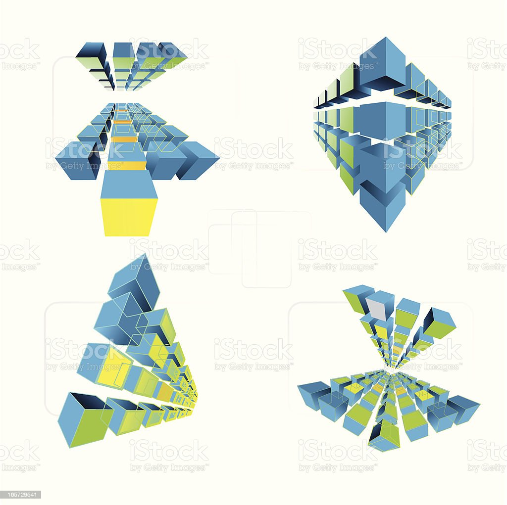 cube geometry royalty-free stock vector art
