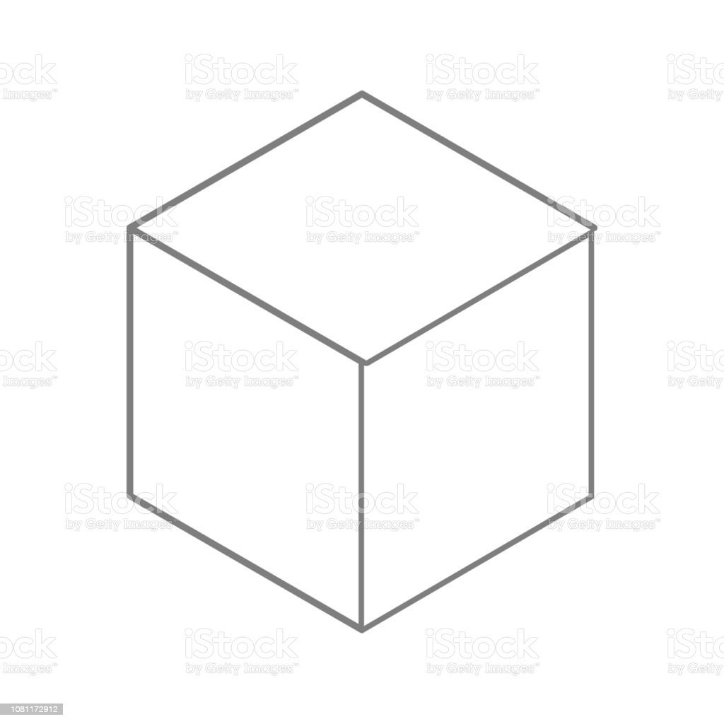 Cube Icon Element Of Cyber Security For Mobile Concept And Web Apps