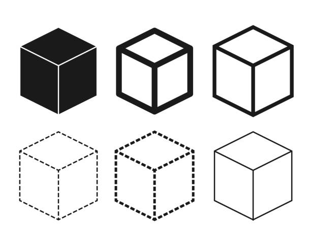 Cube icon set / vector Illustrations that can be used in various fields cube shape stock illustrations