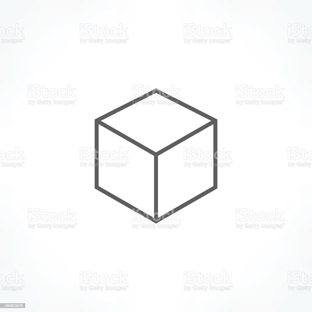 cube icon vector art illustration
